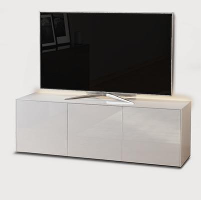 High Gloss White TV Cabinet 150cm with Wireless Phone Charger