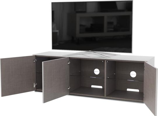 High Gloss White TV Cabinet 150cm with Wireless Phone Charger image 5