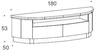 Dune 2 drawer TV unit image 2