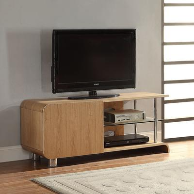 Jual Modern Curved TV Stand BS202 in Ash or Walnut image 2