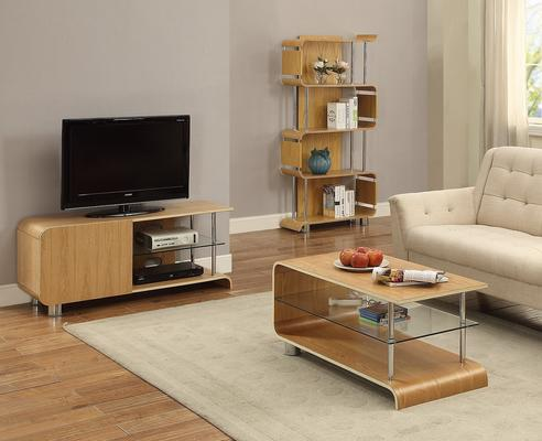 Jual Modern Curved TV Stand BS202 in Ash or Walnut image 4