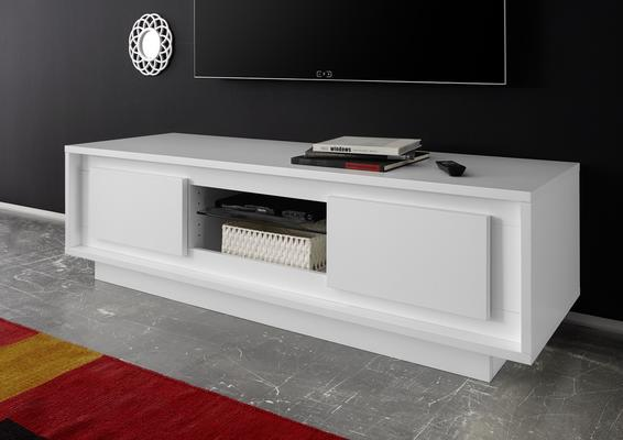 Luna Two Door TV Stand - Matt White