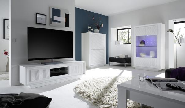 Luna Two Door TV Stand - Matt White image 3