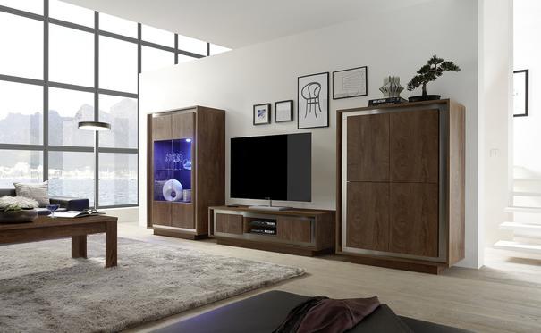 Luna Two Door TV Stand -  Cognac Finish image 2