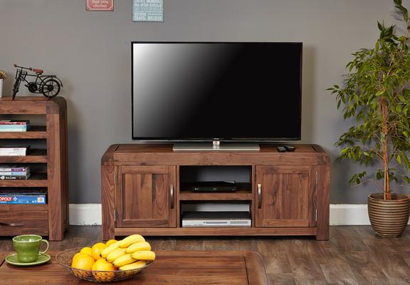 Shiro Walnut Widescreen TV Cabinet