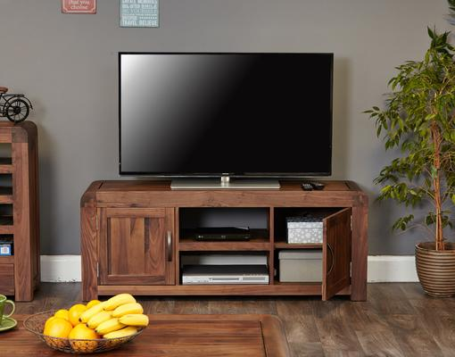 Shiro Walnut Widescreen TV Cabinet image 2