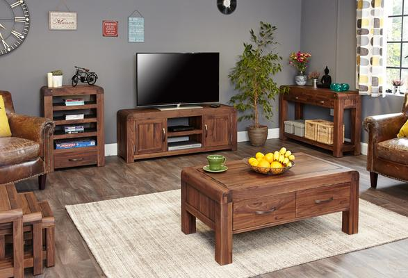 Shiro Walnut Widescreen TV Cabinet image 4