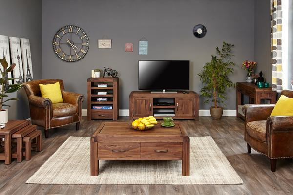 Shiro Walnut Entertainment Unit image 5