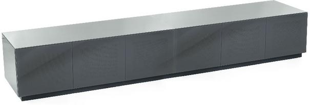 Contemporary extra wide 2.8m Gloss grey tv cabinet