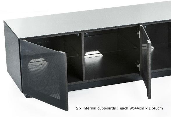 Contemporary extra wide 2.8m Gloss grey tv cabinet image 3