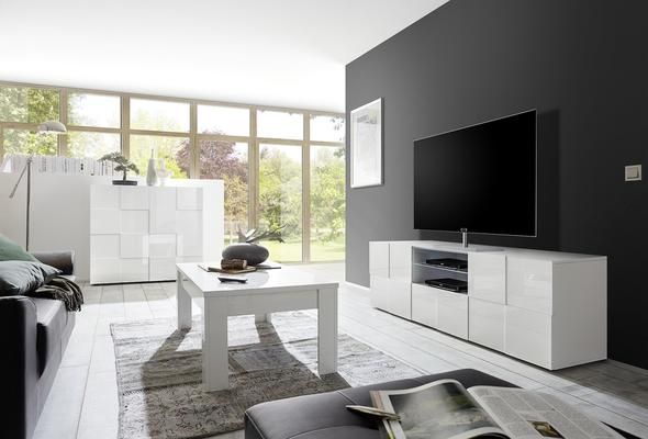 Treviso Large TV Unit - Gloss White  image 2