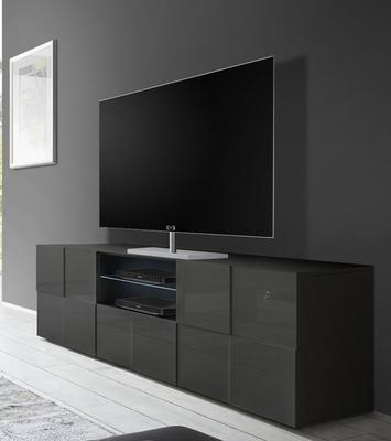 Treviso Large TV Unit - Gloss Grey