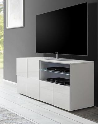 Treviso Small TV Unit - Gloss White