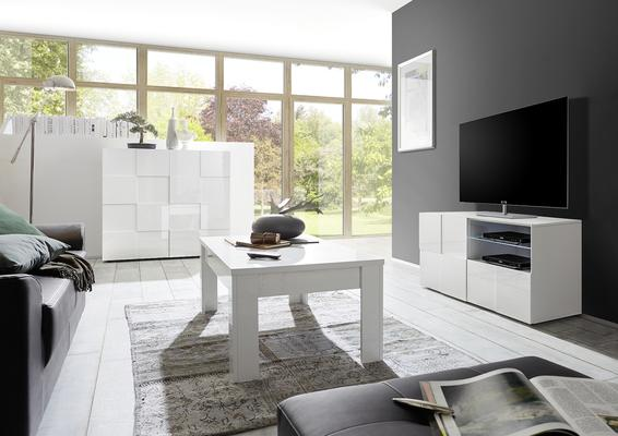 Treviso Small TV Unit - Gloss White  image 2