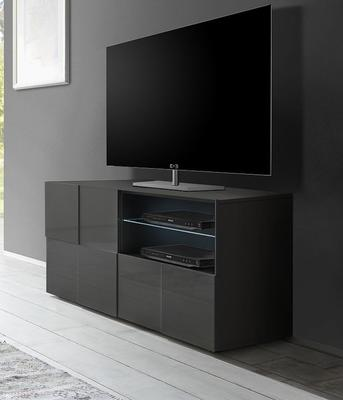 Treviso Small TV Unit - Gloss Grey Finish