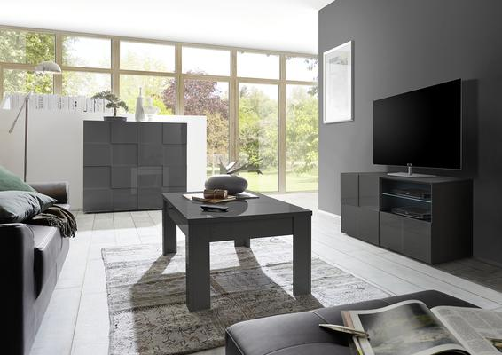 Treviso Small TV Unit - Gloss Grey Finish image 2