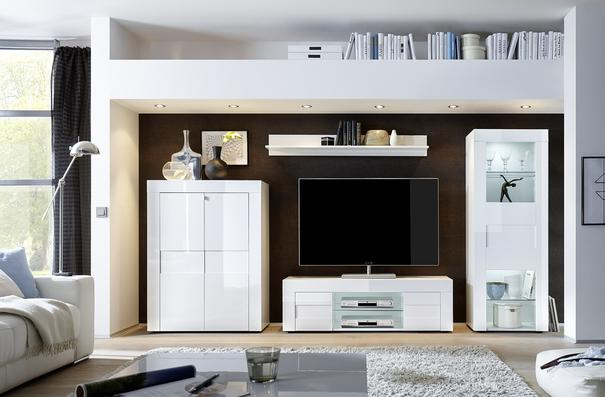 Napoli Large TV Stand Gloss White image 3