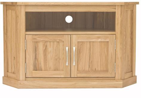 Mobel Solid Oak Corner Television Cabinet Modern image 5
