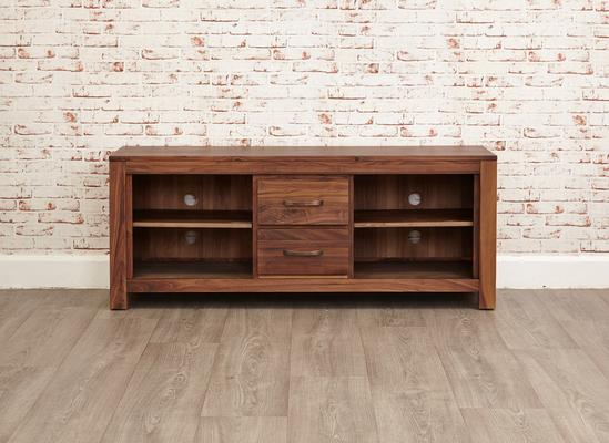 Mayan Walnut Rustic TV Cabinet 2 Drawer image 5