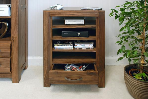 Mayan Walnut Entertainment Unit 1 Drawer 4 Shelves image 3