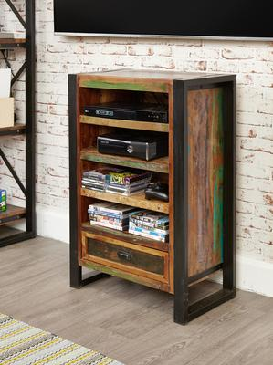 Urban Chic Entertainment Cabinet Reclaimed Wood and Steel