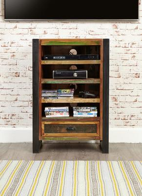 Urban Chic Entertainment Cabinet Reclaimed Wood and Steel image 2