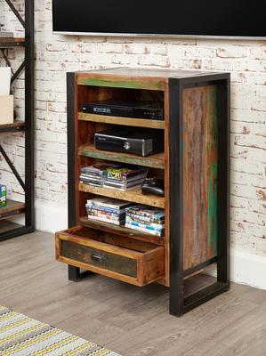 Urban Chic Entertainment Cabinet Reclaimed Wood and Steel image 3
