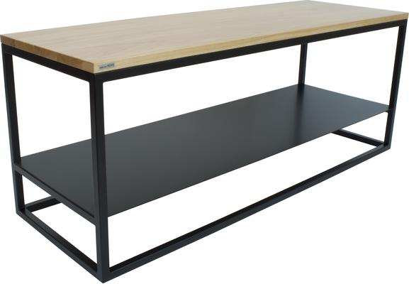 Ertivi 120  TV Stand - Oak and Black Finish