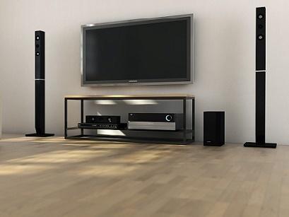 Ertivi 120  TV Stand - Oak and Black Finish image 3