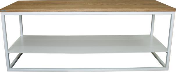 Ertivi 120  TV Stand - Oak and White Finish