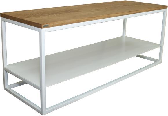 Ertivi 120  TV Stand - Oak and White Finish image 2