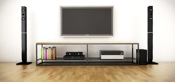 Ertivi 200 TV Stand - Oak and  Black Finish image 3