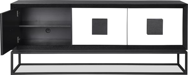 ETNA Art Deco Media Sideboard Dark Wood and Steel image 3