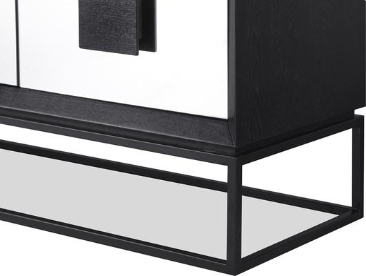 ETNA Art Deco Media Sideboard Dark Wood and Steel image 4