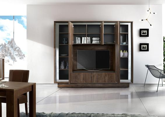 Luna Storage and TV  Wall Unit - Cognac Finish image 2