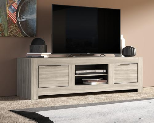 Forli Large TV Cabinet - Caracalla Oak Finish