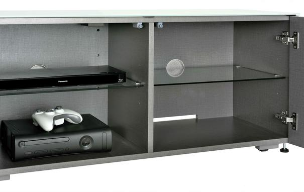 Intelligent TV Cabinet and 2 Lamp Table Set High Glass Black image 6
