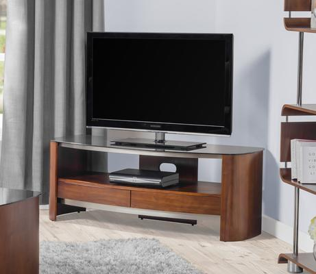 Melbourne Curved TV Stand Walnut JF310 image 2