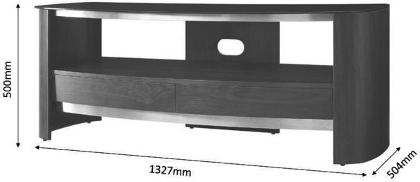 Melbourne Curved TV Stand Walnut JF310 image 3