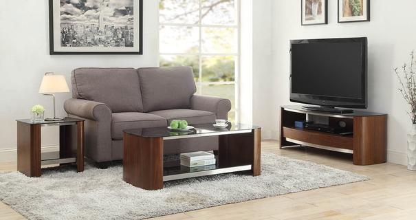 Melbourne Curved TV Stand Walnut JF310 image 5