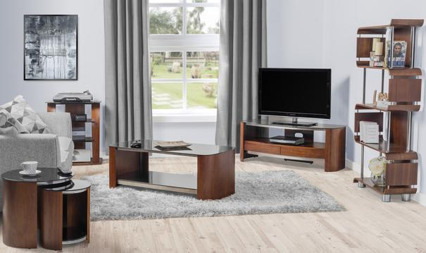 Melbourne Curved TV Stand Walnut JF310 image 6