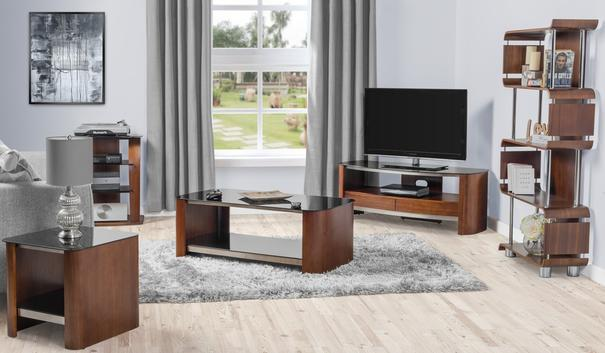 Melbourne Curved TV Stand Walnut JF310 image 7