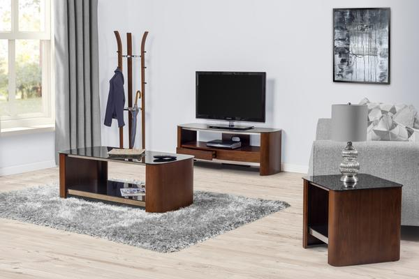 Melbourne Curved TV Stand Walnut JF310 image 8
