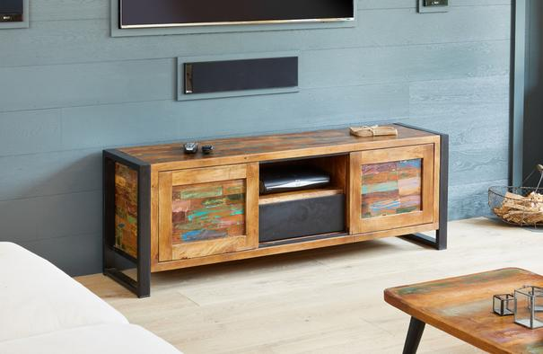 Urban Chic Reclaimed Widescreen Television Cabinet