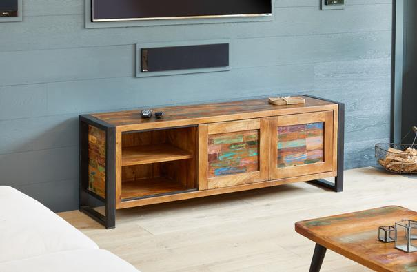 Urban Chic Reclaimed Widescreen Television Cabinet image 2