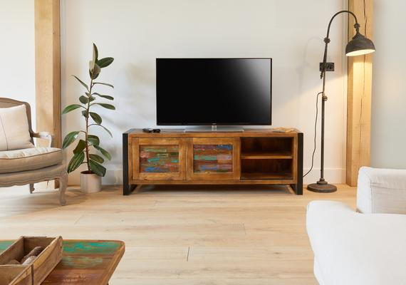Urban Chic Reclaimed Widescreen Television Cabinet image 3