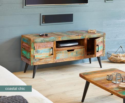 Coastal Chic TV Cabinet Reclaimed Timber image 2