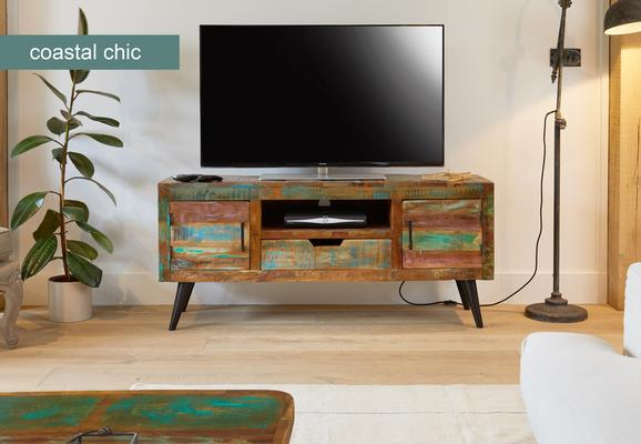 Coastal Chic TV Cabinet Reclaimed Timber image 3