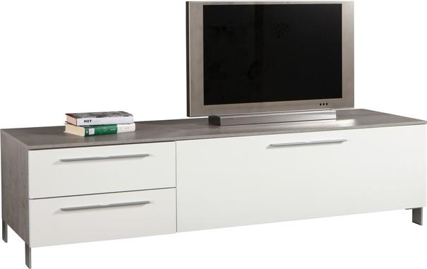 Modica Low Sideboard  and TV Stand -  White Gloss and Grey Finish image 2