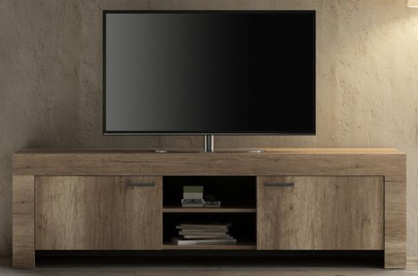 Livorno Large TV Unit - San Remo Oak Finish